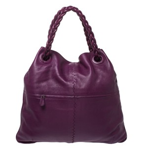 Bottega Veneta Leather Tote in Purple