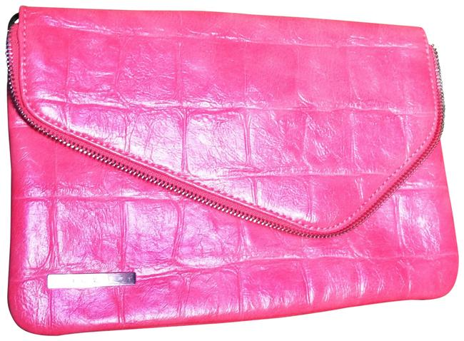Item - New Embossed Bright Coral Man Made Clutch
