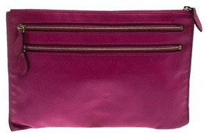 Mulberry Mulberry Hot Pink Leather Multizip Pouch