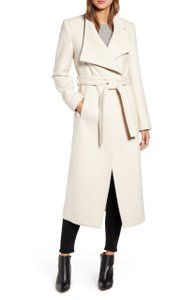 Kenneth Cole Long Belted Pea Coat