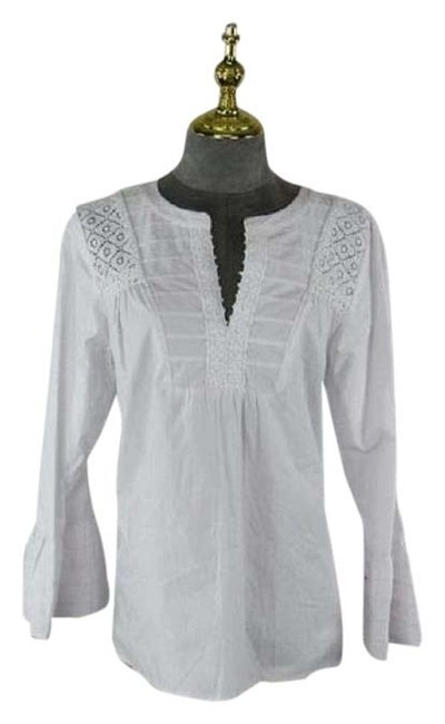 Item - White Long Sleeve Blouse Size 12 (L)