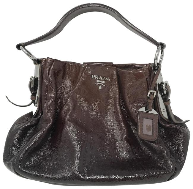 Item - Ombre Tote Brown Patent Leather Shoulder Bag