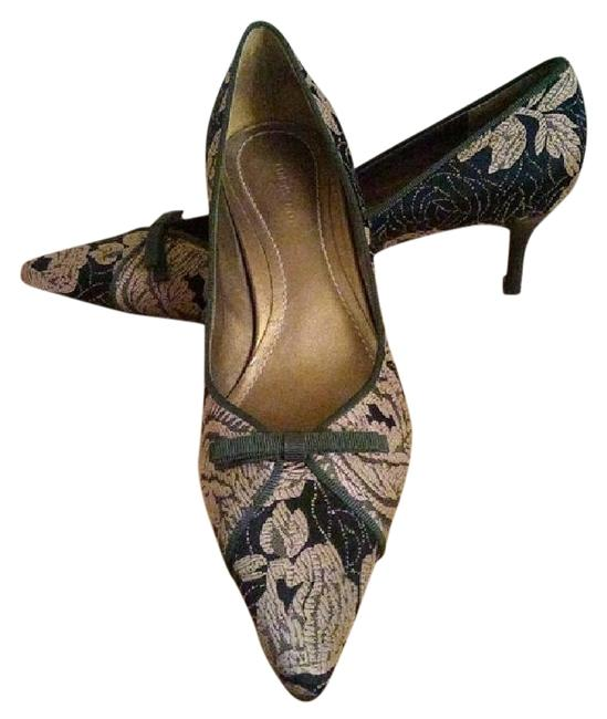 Item - Black and Bronze 'paulina' Floral Brocade Pumps Size US 6.5 Regular (M, B)