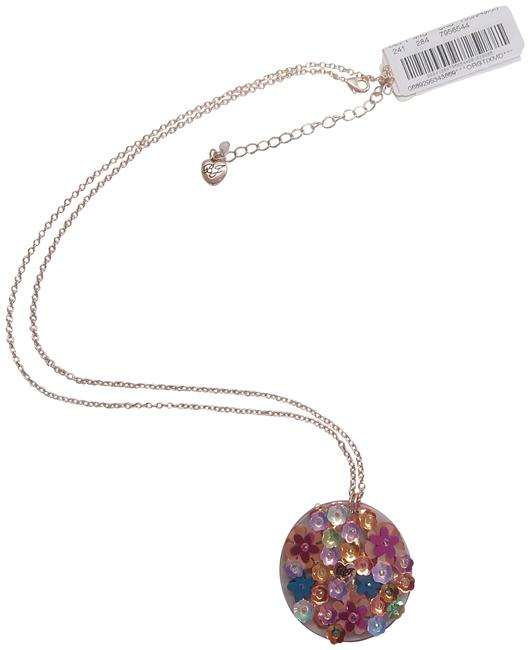 Item - Pink New Lucite Flower Disc Necklace
