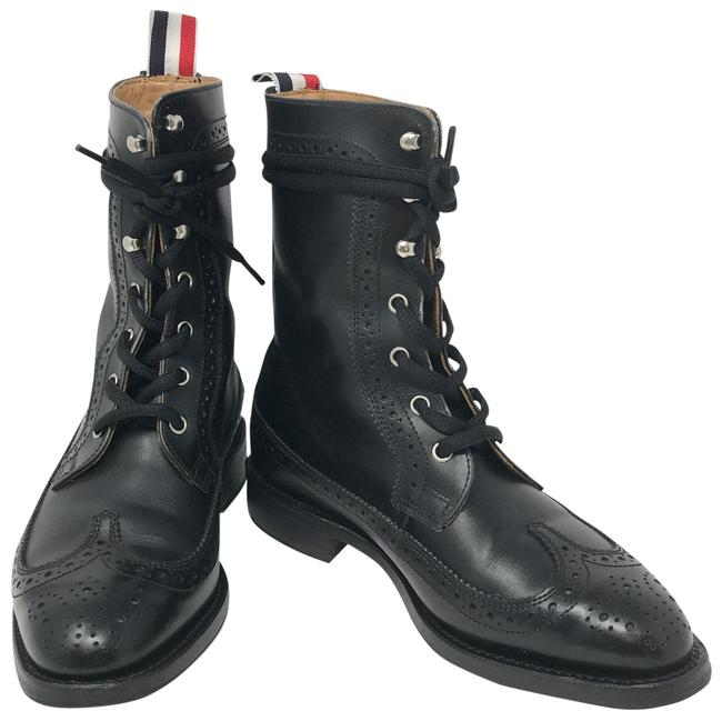 Item - Black Leather Wingtip Boots/Booties Boots/Booties Size EU 36 (Approx. US 6) Regular (M, B)