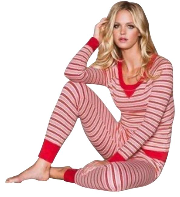 Item - Red Fireside Thermal Long Jane Pajama Set Button-down Top Size 8 (M)