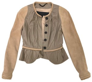 Burberry Prorsum Beige Leather Jacket