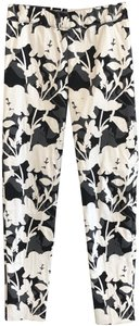 D. EXTERIOR Shimmer Italy Stretch Cotton Floral Skinny Pants Multi Color