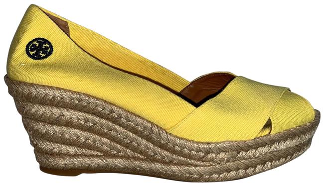 Item - Yellow Rope Wrapped Espadrilles Wedges Size US 10 Regular (M, B)