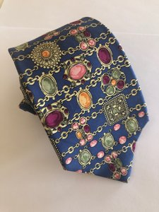 Chanel Blue with Various Other Colors Men's Tie/Bowtie