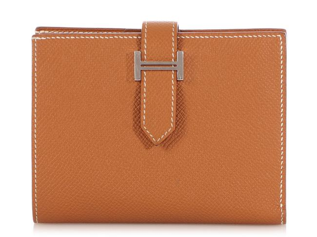 Item - Gold Epsom Leather Bearn Compact Wallet