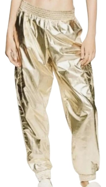 Item - Gold Vs Shiny Metallic Jogger Large Activewear Bottoms Size 14 (L, 34)