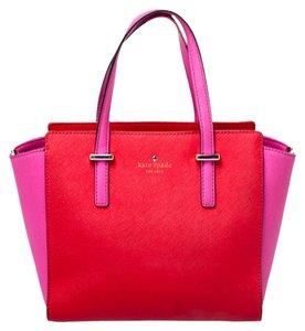 Kate Spade Leather Satin Tote in Red