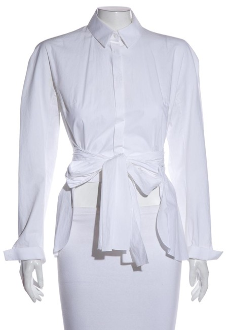 Item - White Oversized Button Up Blouse Size 2 (XS)