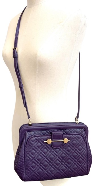Item - Daphne Quilted Purple Lambskin Leather Cross Body Bag