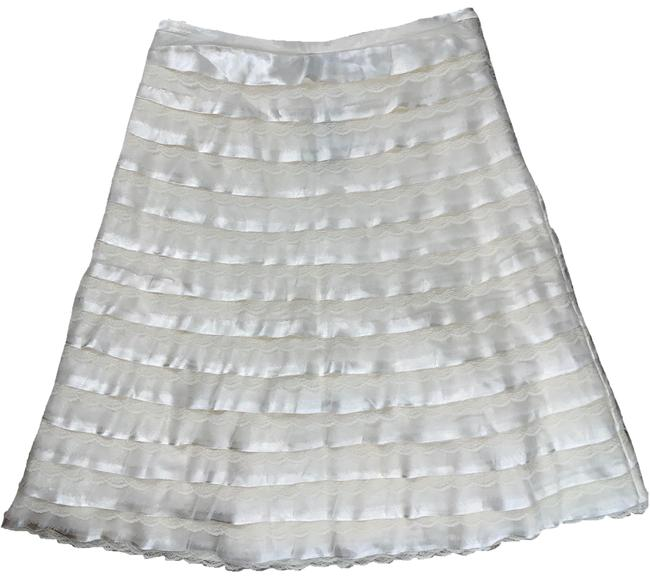 Item - White Lace Ruffle Tiered A Line Skirt Size 6 (S, 28)