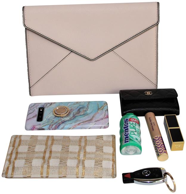 """Item - """"Leo-bride Tribe"""" Pink Leather Clutch"""