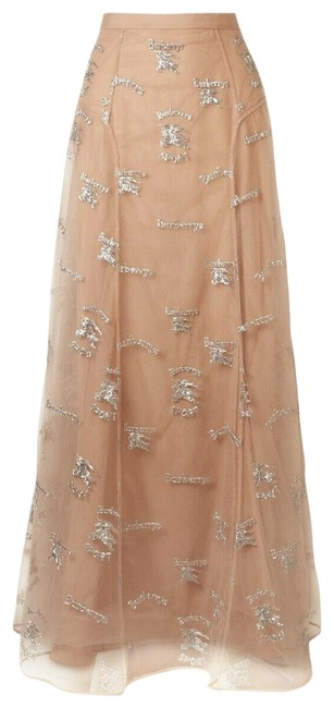 Burberry Beige Sybilla Nude Tulle Mesh Silk Knight Logo Us 0 Italy Skirt Size 0 (XS, 25) Burberry Beige Sybilla Nude Tulle Mesh Silk Knight Logo Us 0 Italy Skirt Size 0 (XS, 25) Image 1
