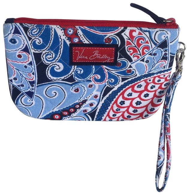 Item - Retired Pattern Seaside Port Blue Red and White Cotton Wristlet