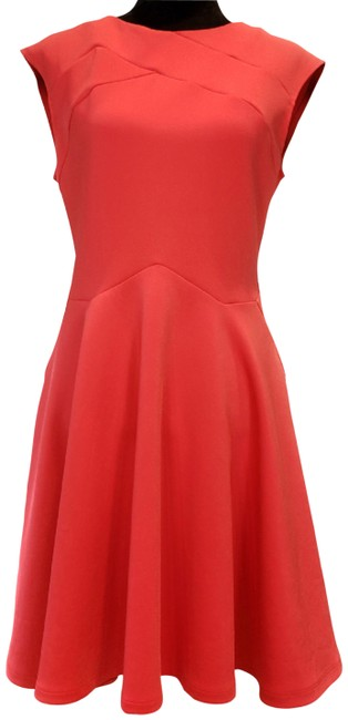 Ted Baker Orange Scuba London Sew In Love Fit & Flare 3/Us Short Night Out Dress Size 8 (M) Ted Baker Orange Scuba London Sew In Love Fit & Flare 3/Us Short Night Out Dress Size 8 (M) Image 1