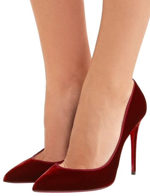 Christian Louboutin Burgundy Cl Pigalle Follies 100 Velvet Pumps Size EU 40.5 (Approx. US 10.5) Narrow (Aa, N) Christian Louboutin Burgundy Cl Pigalle Follies 100 Velvet Pumps Size EU 40.5 (Approx. US 10.5) Narrow (Aa, N) Image 1