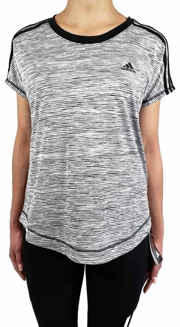 Item - Black Climalite Women's Striped Activewear Top Size 4 (S)