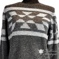 Pendleton Women's Wool Blend Heather/Pepper Charcoal Heather/Pepper Mari Sweater Pendleton Women's Wool Blend Heather/Pepper Charcoal Heather/Pepper Mari Sweater Image 8
