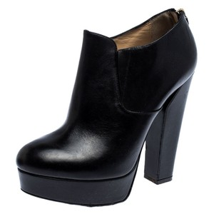 Ballin Leather Platform Black Boots