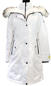 1 Madison Winter Hooded Cotton Faux Fur Fall Coat