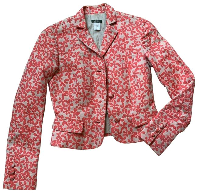 Item - Orange Tan Jacket Floral Long Sleeve Blazer Size 0 (XS)