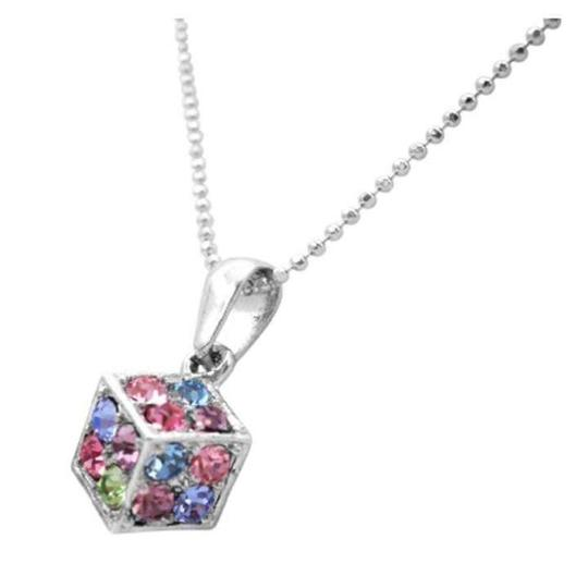 Fashion Jewelry For Everyone Multicolor Dice Pendant Crystals Dice Pendant Holiday Club Gifts Necklace