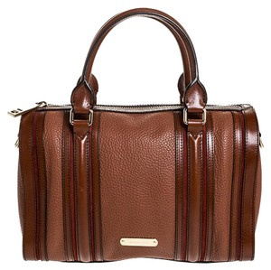 Burberry Leather Satchel in Brown