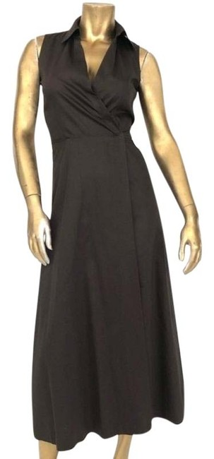 Item - Brown Ny Faux Wrap Made In Ny Long Casual Maxi Dress Size 2 (XS)