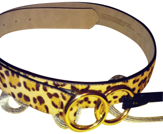 Express Leopard Calf Hair Belt Express Leopard Calf Hair Belt Image 1
