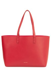 Mansur Gavriel Leather Large Tote in Red