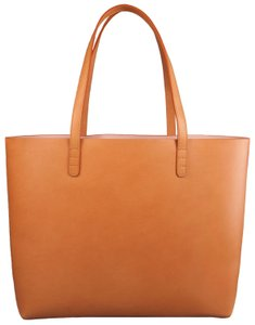 Mansur Gavriel Leather Large Tote in Brown
