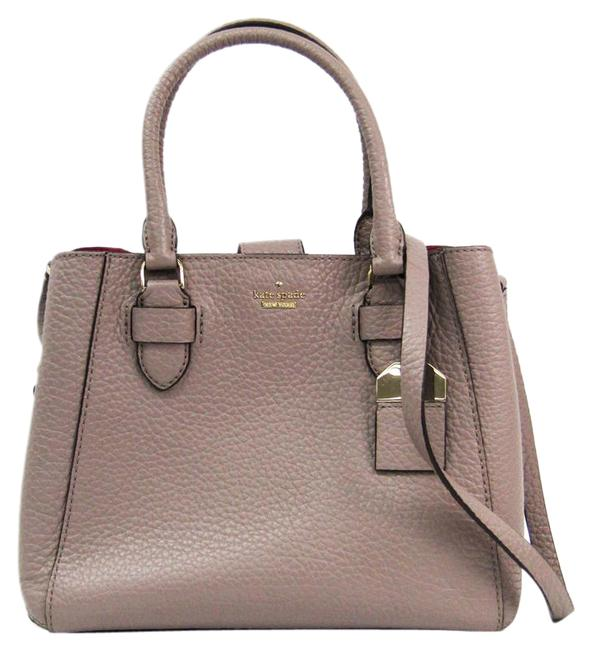Item - Pxru8387 Handbag Gray Purple Leather Shoulder Bag