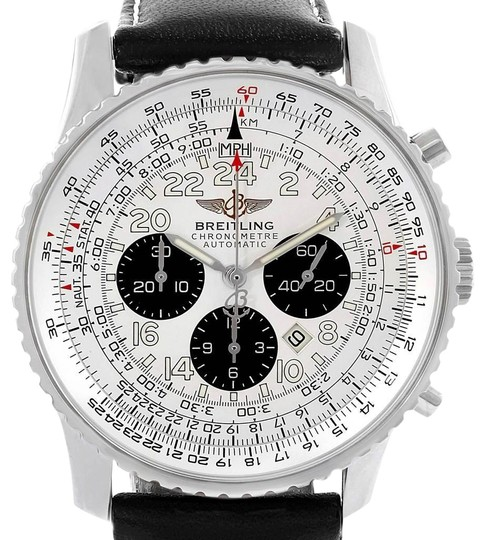 Preload https://img-static.tradesy.com/item/27001933/breitling-silvered-navitimer-cosmonaute-black-strap-steel-mens-a22322-watch-0-1-540-540.jpg