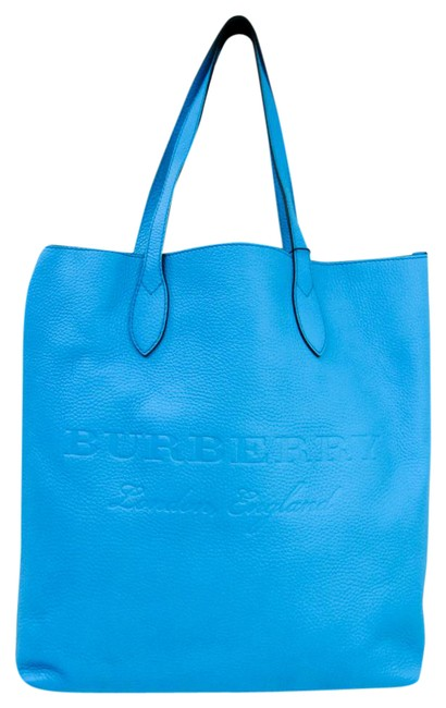 Burberry Bag 4068849 Unisex Blue Leather Tote Burberry Bag 4068849 Unisex Blue Leather Tote Image 1
