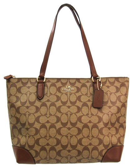 Preload https://img-static.tradesy.com/item/27002101/coach-bag-signature-zip-top-f29208-women-s-khaki-brown-pvc-leather-tote-0-1-540-540.jpg