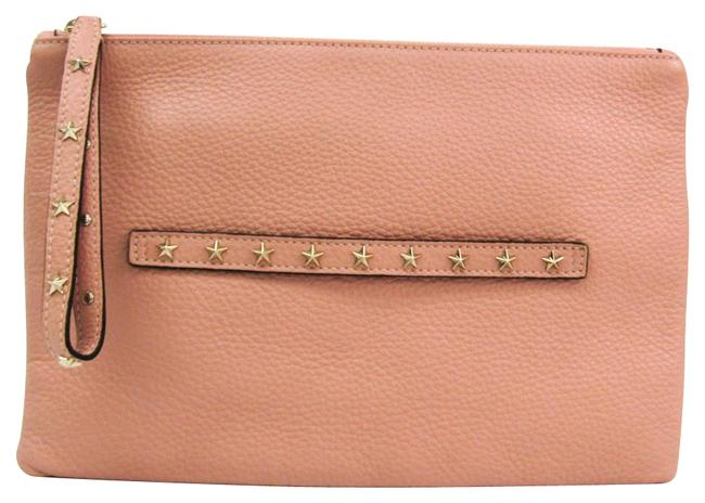 Studs Women's Light Pink Leather Clutch Studs Women's Light Pink Leather Clutch Image 1