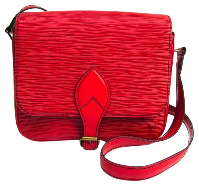 Louis Vuitton Cartouchiere M52247 Women's Castilian Red Epi Leather Shoulder Bag Louis Vuitton Cartouchiere M52247 Women's Castilian Red Epi Leather Shoulder Bag Image 1