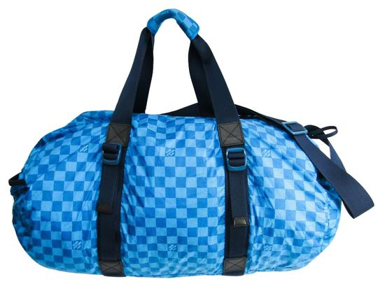 Preload https://img-static.tradesy.com/item/27002166/louis-vuitton-boston-bag-damier-aventure-practical-m97057-men-s-blue-nylon-satchel-0-1-540-540.jpg