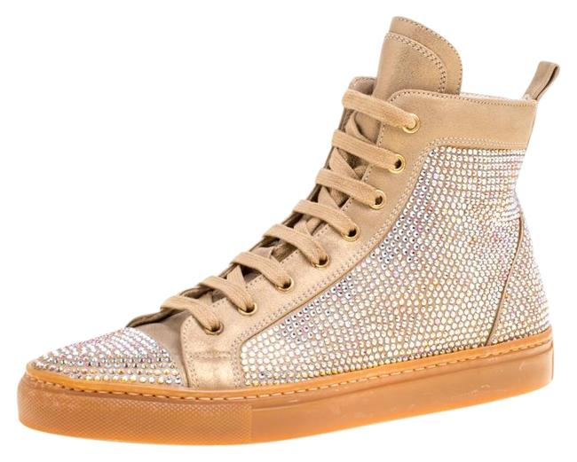 Le Silla Beige Crystal Embellished Leather High Top 37 Sneakers Size US 6.5 Regular (M, B) Le Silla Beige Crystal Embellished Leather High Top 37 Sneakers Size US 6.5 Regular (M, B) Image 1