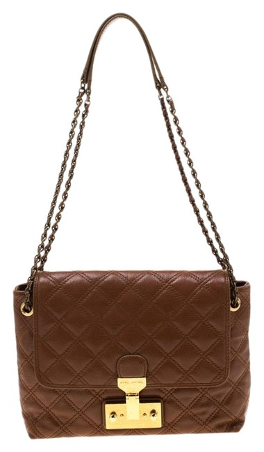 Marc Jacobs Quilted Large Baroque Single Brown Leather Shoulder Bag Marc Jacobs Quilted Large Baroque Single Brown Leather Shoulder Bag Image 1