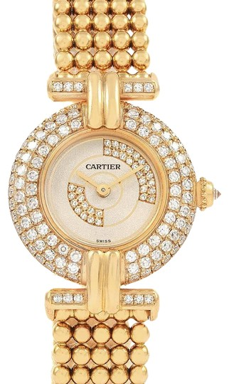 Preload https://img-static.tradesy.com/item/27002287/cartier-silver-colisee-18k-yellow-gold-diamond-limited-edition-ladies-watch-0-1-540-540.jpg