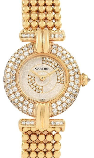 Cartier Silver Colisee 18k Yellow Gold Diamond Limited Edition Ladies Watch Cartier Silver Colisee 18k Yellow Gold Diamond Limited Edition Ladies Watch Image 1