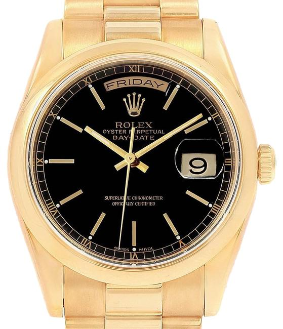 Rolex Black Box President Day Date Yellow Dial 118208 Paper Watch Rolex Black Box President Day Date Yellow Dial 118208 Paper Watch Image 1