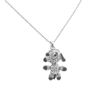 Silver Grey Movable Legs Tail Arm Cute Dog Pendant Lovable Pet Dog Necklace