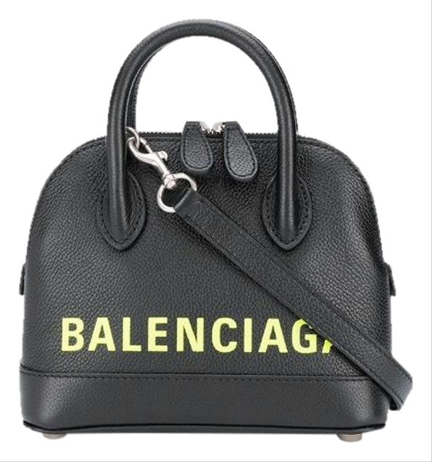 Balenciaga Shoulder Ville Xxs Logo Printed Top Handle Cross Body Bag Balenciaga Shoulder Ville Xxs Logo Printed Top Handle Cross Body Bag Image 1